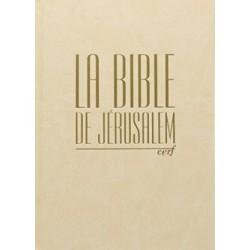 La Bible de Jérusalem. Compacte blanche tranche dorée
