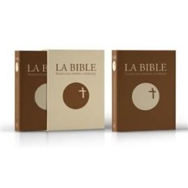 La Bible Traduction Officielle Liturgique-cuir marron