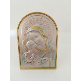 Cadre argent Vierge à l'Enfant