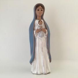 Vierge à l'Enfant émaillée 15,5 cm Grataloup