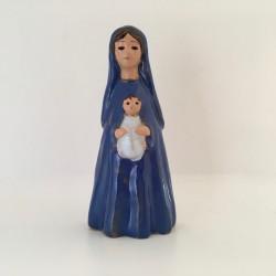 Statue Vierge à l'Enfant céramique Grataloup