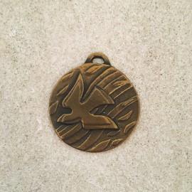 Médaille de berceau en bronze colombe