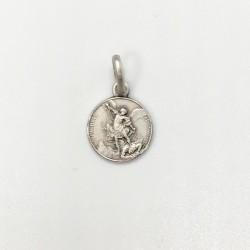 médaille Saint Michel argent 10 mm