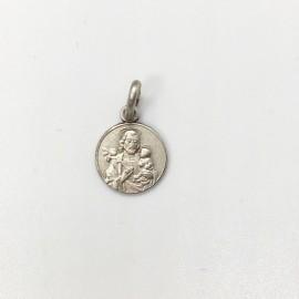 médaille Saint Joseph argent 10 mm