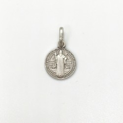 médaille Saint Benoît argent 10 mm