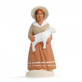 bergère à l'agneau