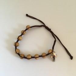 Bracelet-dizainier en olivier sur corde