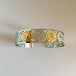 Bracelet Saint Benoît en métal