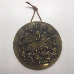 Médaillon en bronze La Cène