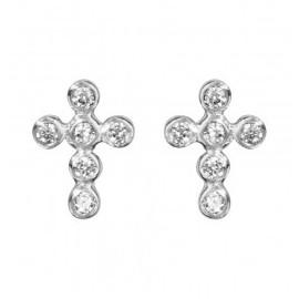 Boucles d'oreilles croix