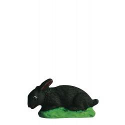 lapin couché noir