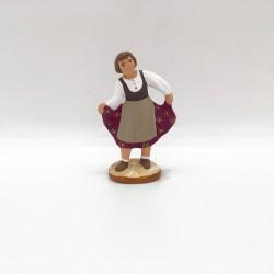 Petite fille qui danse bordeaux