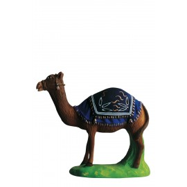 chameau debout bleu
