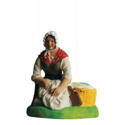 Laveuse à genoux santon Marcel Carbonel 9cm
