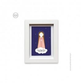Cadre blanc Sainte Vierge Marie