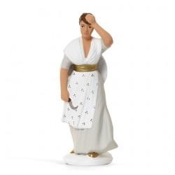 Femme à la lavande, santon...