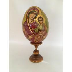 Oeuf russe Vierge à l'Enfant