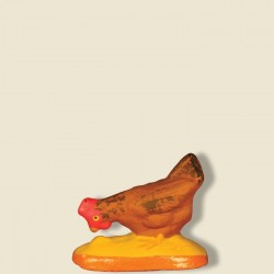 Poule picorante marron,...