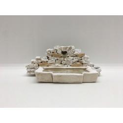 Fontaine mur en pierres,...