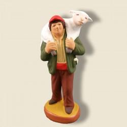 Valet avec un mouton,...