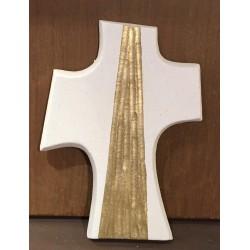 croix argile réfractaire et feuille d'or
