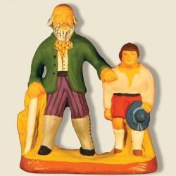 Aveugle et son fils, santon...
