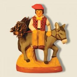 Homme sur l'âne, santon...
