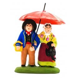 Couple sous le parapluie,...
