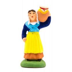 Femme à la jarre, santon...