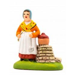 Femme aux limaçons, santon...