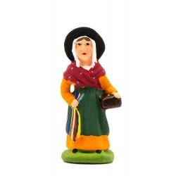 Femme aux rubans, santon...