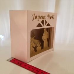 Carte-crèche dorée 3D petit...