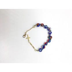 Bracelet-dizainier Murano bleu