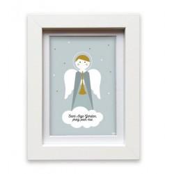 Cadre blanc Ange gardien