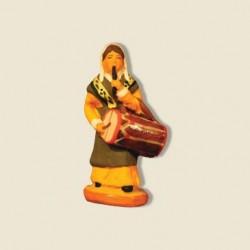 Femme tambourinaire, santon...