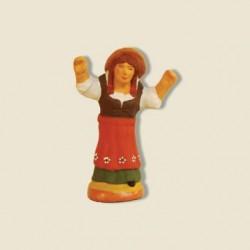 Femme ravie, santon Fouque 4cm