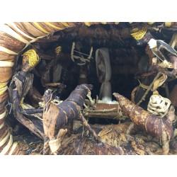 Crèche africaine, cabane