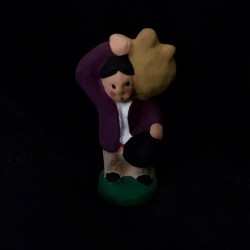 Paysan à la dame-jeanne santon Filippi 3cm