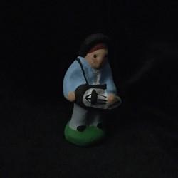 Joueur de vielle santon Filippi 3cm