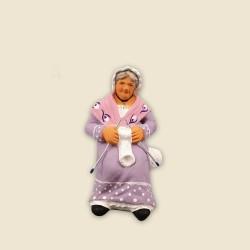 Grand-mère qui tricote,...