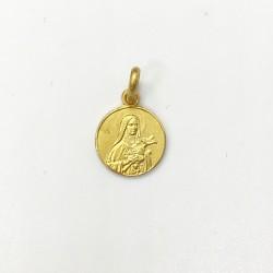 médaille Sainte Thérèse plaqué-or 10 mm