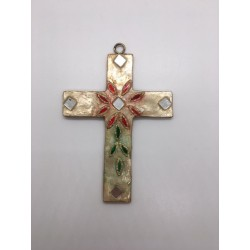 Croix murale nacre et verre