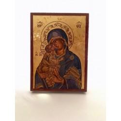 Icone Vierge du don bleue