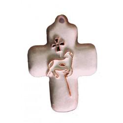 Croix murale en céramique...