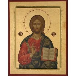 Icone Christ Pantocrator 19x16