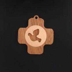Croix murale carrée bois...
