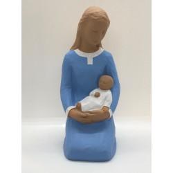 Statue Vierge à l'Enfant, à...
