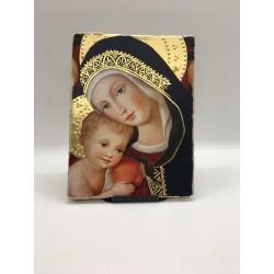 Cadre style fresque Vierge...