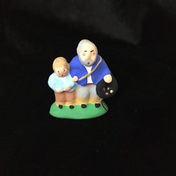 L'aveugle et l'enfant santon Filippi 3cm
